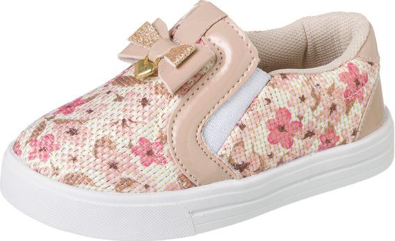 Tênis Slipper Floral Infantil Menina 009.104 (1 Par)