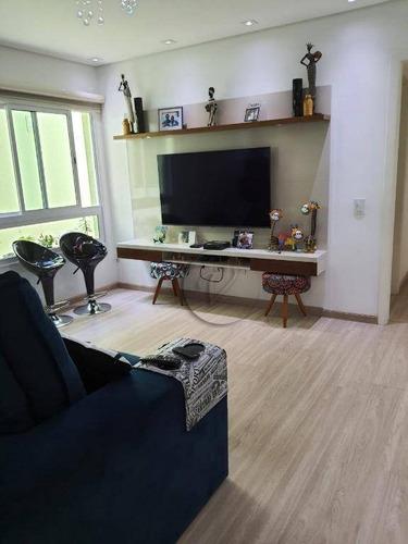 Apartamento Com 3 Dormitórios À Venda, 106 M² Por R$ 500.000,00 - Vila Curuçá - Santo André/sp - Ap10137