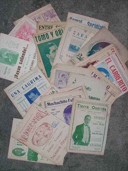 Lote 50 Partituras De Tango Antiguas