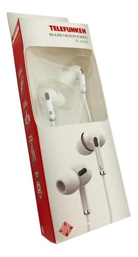 Fone Telefunken Tf-h150 In Ear Branco In-ear