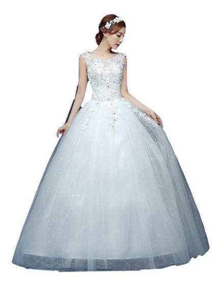 Promoción Vestidos De Novia Princesa Blanco Ivory Nuevo