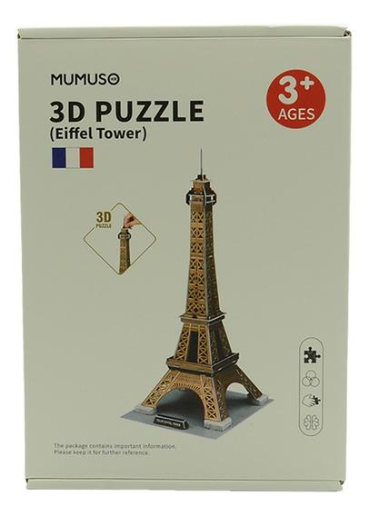 Rompecabezas 3d Torre Ieffel En Paris