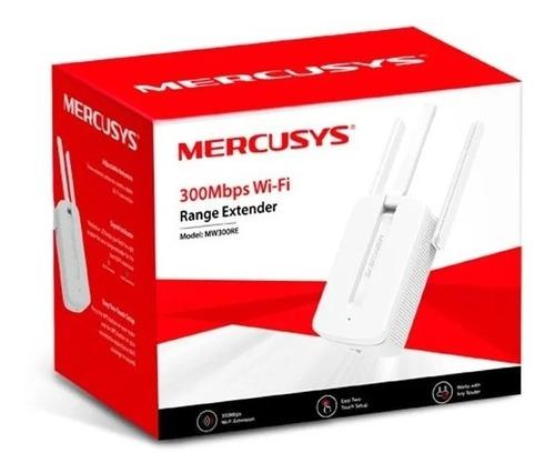Imagem 1 de 3 de Repetidor De Sinal Mercusys 300 Mbps Mw300re Wireless
