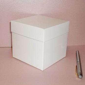 Imagen 1 de 3 de Cajas, Cartón, A La Medida, Blanca, Medida 14x14x14(6 Pzas.)