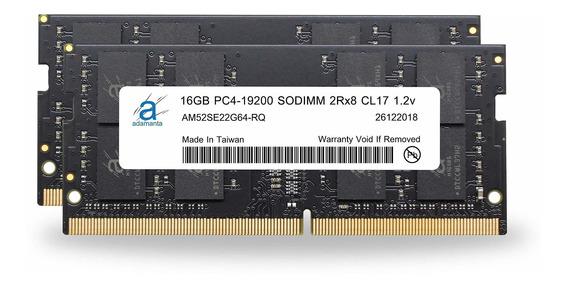 Memoria Ram 32gb Adamanta (2x16gb) Upgrade Ddr4 2400mhz Pc4-19200 Sodimm 2rx8 Cl17 1.2v Dram