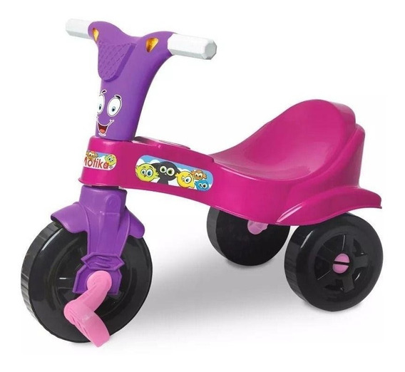 Motoca Infantil Menina Triciclo Tonquinha