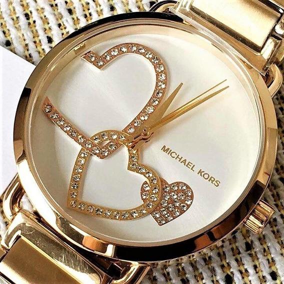 Relógio Pulso Feminino Michael Kors Aço Dourado Mk3824 Lindo
