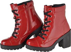 c2a4dab9ca Sapatos De Salto Alto Tipo Botinha Feminino - Botas Vermelho com o ...