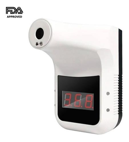 Imagen 1 de 10 de Termometro Infrarrojo Digital De Pared Sin Contacto Alarma