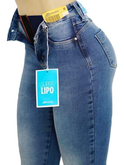 Calça Sawary Jeans Original Super Lipo Modela Cintura
