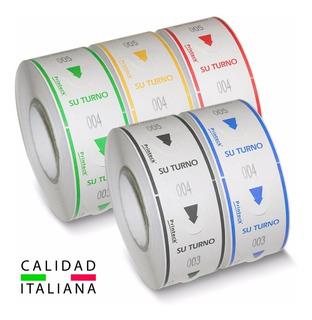 10 Rollos Toma Turno 2000 Tickets Digitos, Varios Colores