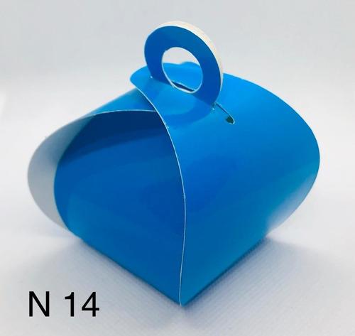Imagem 1 de 11 de 60 Caixinhas Para Bem Casado Lembrancinha Cor Azul