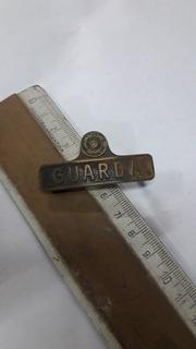 Antiguo Pin De Gorra De Guarda De Ferrocarril