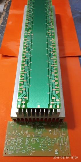 Dissipador 3200w Perfil Duplo 44 /com Placa Amplificadores