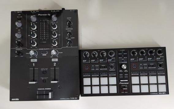 Mixer Pioneer Djm-s3 + Ddj Sp1 + 2 Vinys Timecode Serato