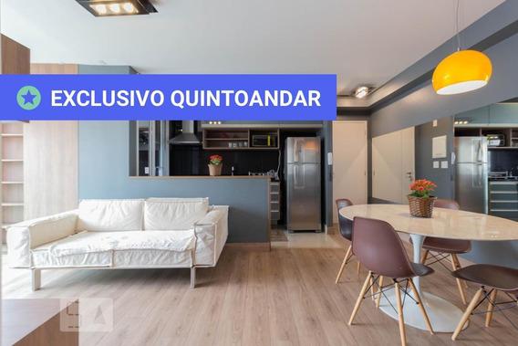 Apartamento No 3º Andar Mobiliado Com 1 Dormitório E 2 Garagens - Id: 892962703 - 262703