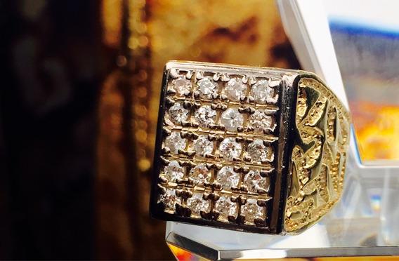 Rolex Anillo De Hombre, Oro 14k Con Diamantes Naturales