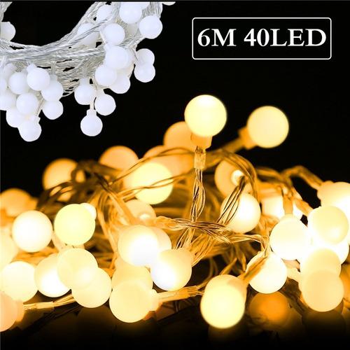 Luces Led De 40 Focos De 6 M Decorativas Para Navidad