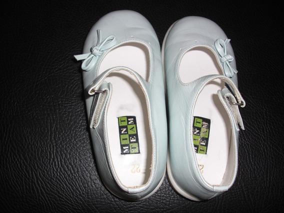 Zapatos Para Niña Primeros Pasos Azul Clarito Talla 22
