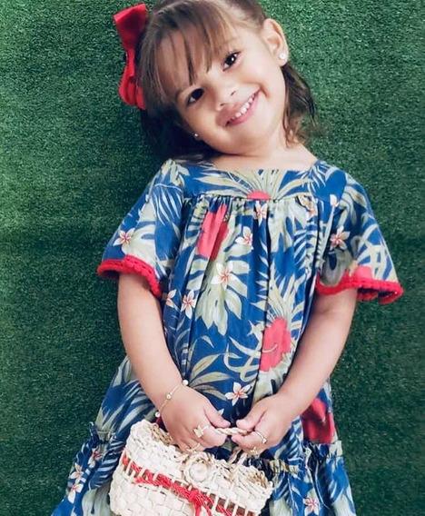 Vestido Infant. Com Laço Nas Costas