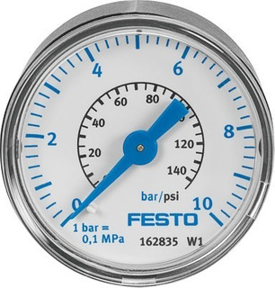 Manómetro Medidor De Presión Aire - Festo Ma-40-10-1/8