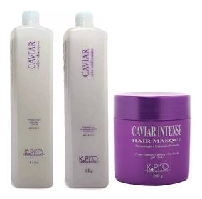 Kit Kpro Caviar Shampoo 1l + Condicionador 1l + Máscara 500g
