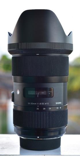 Lente Sigma 18-35mm F/1.8 Dc Hsm - P/ Canon - Estado De Nova