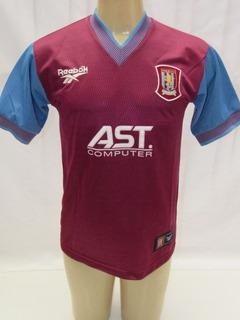 Camisa De Futebol Do Aston Villa Inglaterra 2004-2005 Hummel