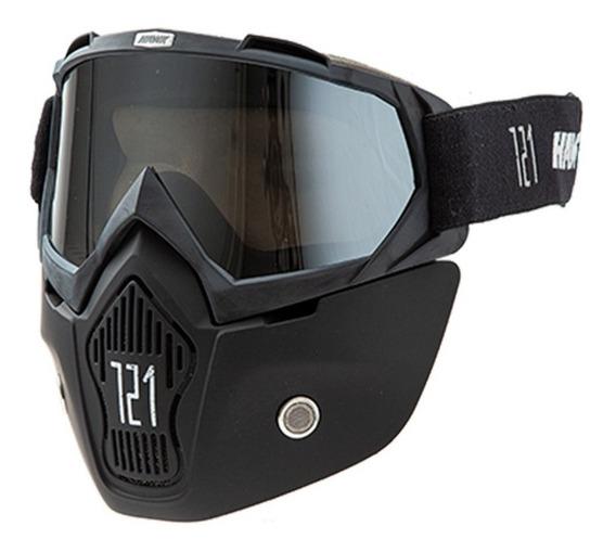 Antiparra Motos Mascara Hawk P/casco Abierto Solomototeam