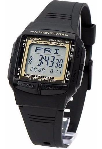 Relógio Casio Db-36 Data Bank 30 Memo 5 Alarmes Serie Ouro