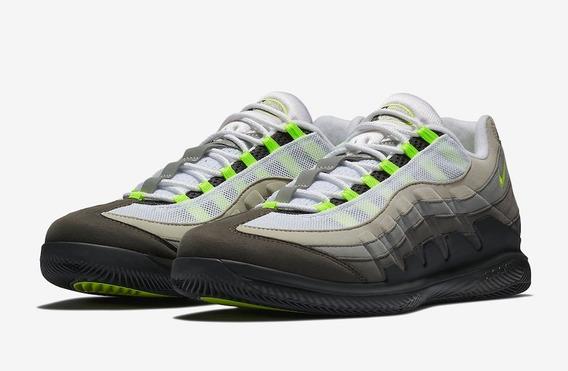 Tênis Nike Zoom Vapor Rf X Am 95 Neon Federer Raríssimo