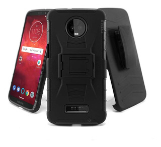 Funda Moto Z Z2 Z3 Play Force Uso Rudo Resistente Case Clip