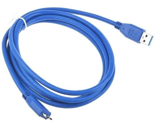 Imagen 1 de 5 de Cable Micro Usb 3.0 Tipo B 1.5m Disco Externo Toshiba Sony