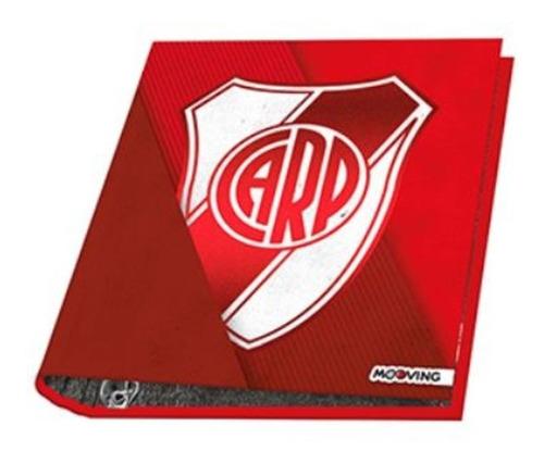 Carpeta Escolar Nro 3 River Plate 3 Anillos Mooving 1125 Ed