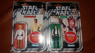 Star Wars Luke Skywalker Y Han Solo Retro Collection Series