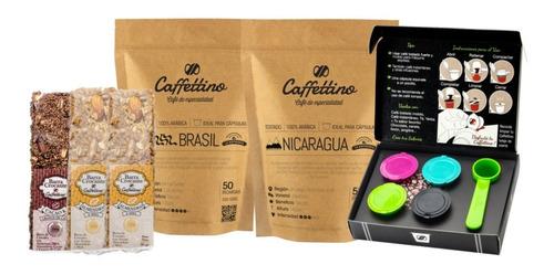 Imagen 1 de 1 de Kit Tentación Nespresso Centroamérica Con Barras Crocantes
