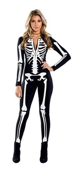 Disfraz Esqueleto Jumpsuit Disfraz Halloween Mujer Adulto
