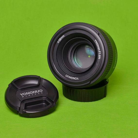 Lente Yongnuo Yn50mm 1.8n Para Nikon