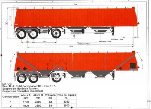 Imagen 1 de 2 de Semi Tolva 58m3 (1+1+1)  0km