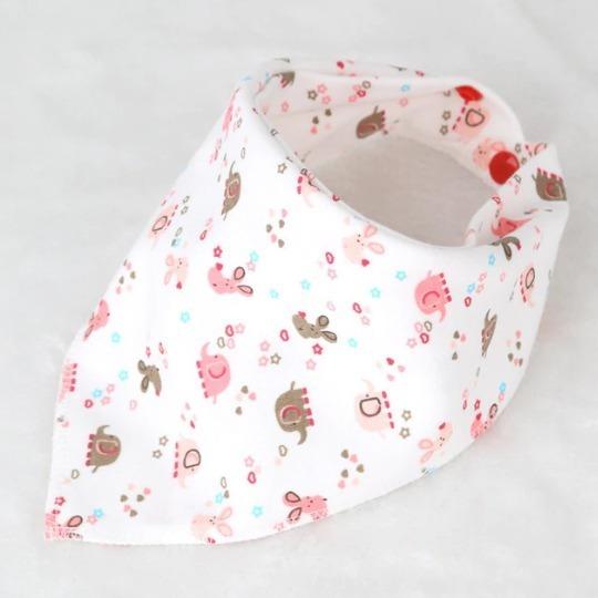 Babero Bandana Triangular Algodón Bebés Niñas 1