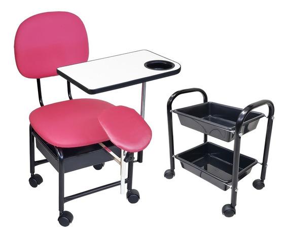 Cadeira Manicure Cirandinha Com Suporte E Cm2 Pink Facto