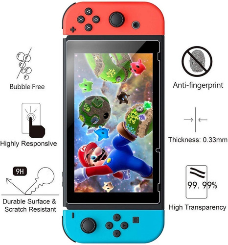 Imagen 1 de 2 de Vidrio Templado Nintendo Switch Templado Premium Ade Ramos