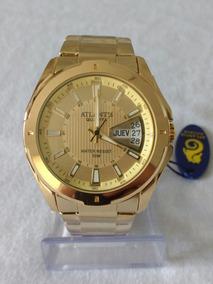 Relógio Masculino Dourado Original Atlantis G-3121 Sports