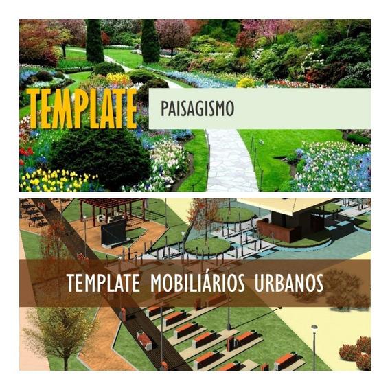 Revit Template Mobiliário Urbano + Template Paisagismo C.a.