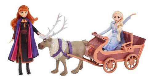 Disney Frozen - Sven Y Las Hermanas En Trineo Frozen 2