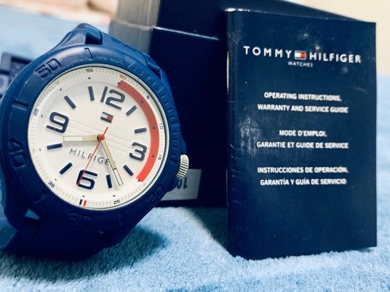 Relógio Masculino Tommy Hilfiger Pulseira Silicone Azul