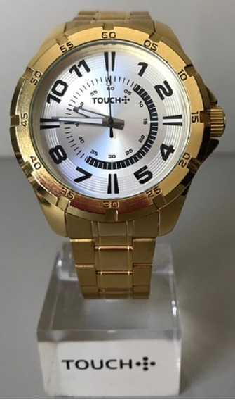 Relógio Masculino Touch Dourado