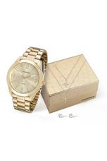 213349eabd7 Relógio Mondaine Kit Feminino Dourado Semijoia 78714mpmvda1