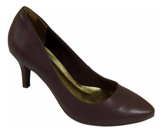 Sapato Feminino Scarpin Com Salto Via Marte