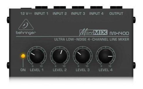Pacote Com 2 Mixer Com 4 Entradas 1 Saída Behringer | Mx400